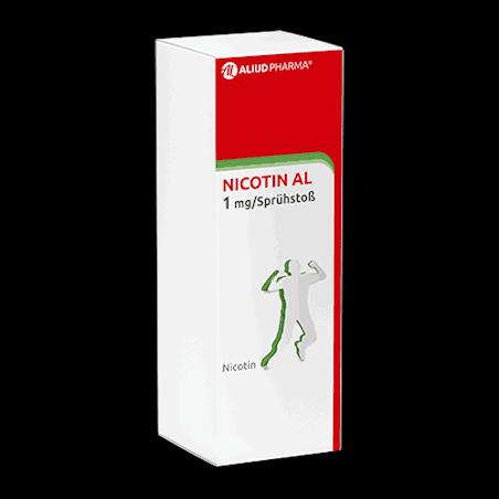 Nicotin AL 1 mg / Sprühstoß Spray zur Anwendung in der Mundhöhle, Lösung